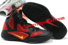 ffb0852316d3 Nike Zoom Hyperfuse 2011 Black Red Sneakers Nike
