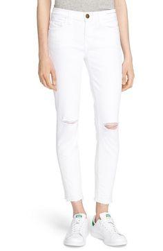 Current/Elliott 'The Stiletto' Jeans (Sugar Knee Slit) available at #Nordstrom