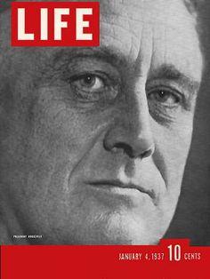 LIFE Magazine January 4, 1937 - President Franklin D. Roosevelt