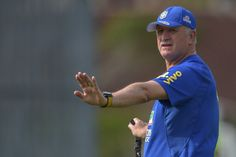 Head coach Luiz Felipe Scolari gestures during a training session of the Brazilian national football team at the squad's Granja Comary training complex, on June 26, 2014 in Teresopolis, 90 km from downtown Rio de Janeiro, Brazil.