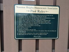 Establishing pool #rules is an important step for ensuring a safe and fun summer. #MrSign #Pittsburgh