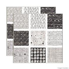 Revestimento Grafismo 20x20cm 25 peças Portinari - Telhanorte