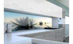 Panel szklany do kuchni LILIA WODNA II