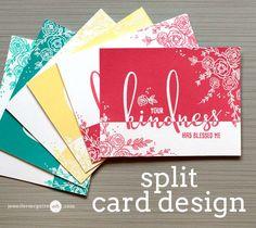Split Card Design Video by Jennifer McGuire Ink
