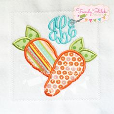 Your place to buy and sell all things handmade Applique Designs, Machine Embroidery Designs, Stitch Design, My Design, Patches, Etsy, Carrots, Handmade, Stuff To Buy
