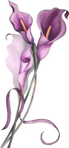 Tattoo flower vintage floral patterns clip art 40 ideas for 2019 Art Floral, Floral Flowers, Spring Flowers, Tole Painting, Fabric Painting, Painting & Drawing, Lilies Drawing, Drawing Flowers, Watercolor Flowers