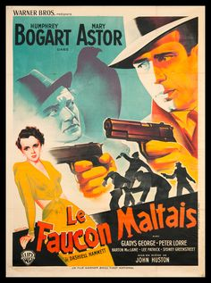 The Maltese Falcon Foreign Movie Poster