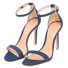 SCHUTZ - Sandália Schutz jeans - azul - OQVestir