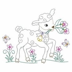 Vintage Baby Animals 2, 7 - 3 Sizes! | What's New | Machine Embroidery Designs | SWAKembroidery.com Ace Points Embroidery