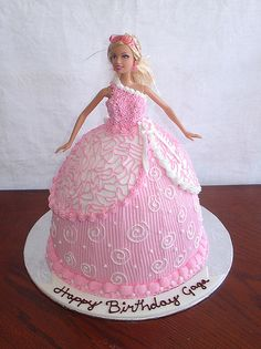 Barbie Cake...Every year, I have to have a Barbie birthday cake! Don't judge!