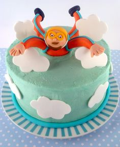 Skydive Cake - maybe blue with clouds and a parachute for Alex's birthday. Fall Birthday Cakes, 14th Birthday, Birthday Parties, Sugar Dough, Cakes For Men, Fancy Cakes, How Sweet Eats, Cake Art, Themed Cakes