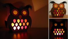 Owl lantern craft idea for St. Owl Lantern, Lantern Craft, Fall Crafts, Diy And Crafts, Paper Crafts, Craft Activities For Kids, Crafts For Kids, Owl Classroom, Battery Operated Tea Lights