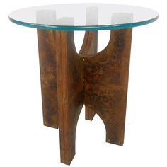 Unique Mid-Century Paul Evans Style Patchwork End Table | From a unique collection of antique and modern end tables at https://www.1stdibs.com/furniture/tables/end-tables/