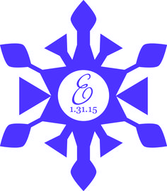 The center of the snowflake star was the logo for the Bat Mitzvah. It was used on place cards, menus, giveaways & more!