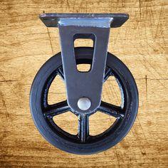 462b5e46bd8 5 inch Soft-Tread Vintage Rigid Caster with Spoke by VISupply Black Wheels,  Vintage