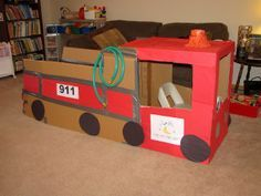 Really cute fire truck for dramatic play