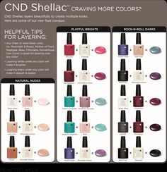 Shellac Layering technique from CND #CND #SHELLAC #CNDSA