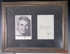 Jeff Chandler 1918 - 1961  Autographed Hand Signed Photograph & Letter in Frame