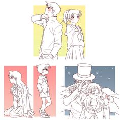Detective, Aladdin Magi, Detektif Conan, Kaito Kuroba, Eevee Evolutions, Magic Kaito, Case Closed, Friends In Love, Kawaii Anime