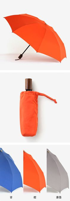 【折り畳み雨傘(中川政七商店)】/耐風骨でつくった、オリジナルの折り畳み傘。こちらの傘は、下から吹き上げてくる風に対してとても強く設計されており、骨が折れにくいのが特徴。傘を入れる袋の内側は吸水・速乾性に優れた生地を合わせ、濡れたままの傘の水分もしっかりと吸収してくれます。 #rain #umbrella