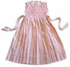 Jasmine Striped Smocked Easter Dress. $39.50. Up to size 6.