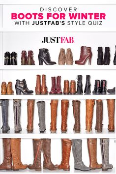 The temperature may be cooling down, but Winter footwear is heating up — and the best way to update your look is with some fierce fashion for your feet. From open-toed booties with a stacked heel to western-inspired styles, this season the trends are more versatile than ever before — and we encourage you to embrace them all. Can't decide which style is best for you? Find out by taking JustFab's Style Quiz.