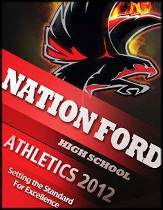 Digital Art & Design: Nation Ford High School Sports Program Cover
