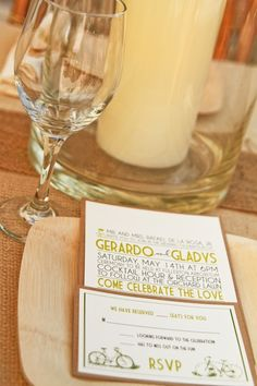 wedding invitations/response card