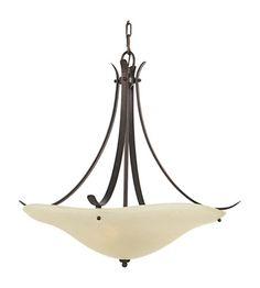 Feiss Morningside LED Uplight Chandelier in Grecian Bronze F2046/3GBZ-LA #lightingnewyork #lny #lighting