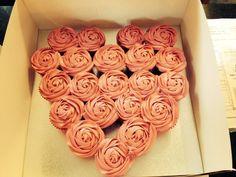 My pull apart cupcake love heart cake