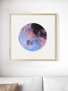 Planet Print. Abstract Art Print. Abstract Wall Art. Abstract Painting. Colorful Planet Art. Minimalist Art Prints. Geometric Art. Square *A PRINTABLE version of this art print is also available at the following link: