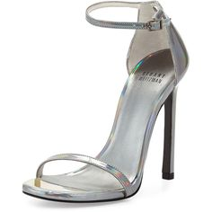 Stuart Weitzman Nudist Metallic Ankle-Strap Sandal and other apparel, accessories and trends. Browse and shop 13 related looks.