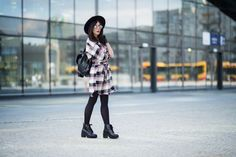 #grunge #skinnylegs #hat #checkered #dress #streetfashion #fashion #outfit