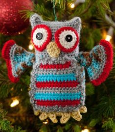 Hoot Owl Ornament in Red Heart Soft Multis - LW2651. Discover more Patterns by Red Heart Yarns at LoveCrochet. We stock patterns, yarn, hooks and books from all of your favorite brands.
