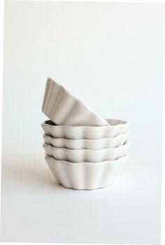White Scallop Dish - $15 each