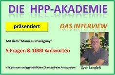 """In der Reihe """"Das besondere Interview"""" mit Sven Langloh  >"""