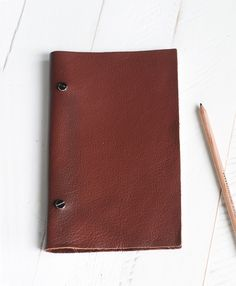 DIY Leather Sketchbook @themerrythought