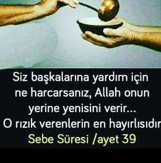 #ayet  corek-otu-yagi.com  (notitle) Allah Islam, Islam Muslim, Islam Quran, Cool Words, Wise Words, Best Love Messages, Catechism, Sufi, Favorite Quotes