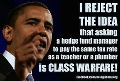 President Obama ~ another democrat fighting for the rights of working class Americans.