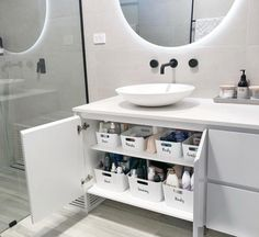 Our Ensuite Organisation- How to Organise your Bathroom! - Just Another Mummy Bl. - Ikea DIY - The best IKEA hacks all in one place Ikea Must Haves, Ikea Organization Hacks, Bathroom Organisation, Organizing Ideas, Ikea Bathroom Storage, Kitchen Organization, Bedroom Storage, Ikea Under Sink Storage, Cleaning Cupboard Organisation