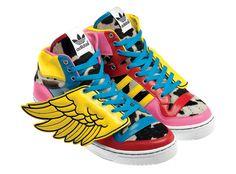 Adidas Originals by Jeremy Scott x 2NE1 JS Wings Sneakers