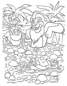 Popular Lion King Coloring Pages 77 Simba Timon And Pumbaa