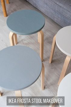 Bring home a little Scandinavian design with this IKEA Frosta Stool Makeover. Find out how to do this easy DIY project. Ikea Furniture Hacks, Living Room Furniture, Home Furniture, Plywood Furniture, Furniture Stores, Luxury Furniture, Modern Furniture, Furniture Design, Ikea Stool