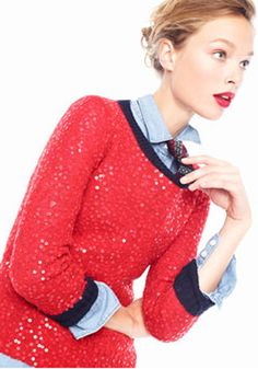 Sequin Sweater | J. Crew