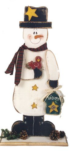 Cute Primitive Snowman