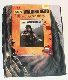 New The Walking Dead AMC Daryl Crossbow Velveteen Fleece Blanket Throw 46 x 60 #LicensedWallkingDeadMerchandise
