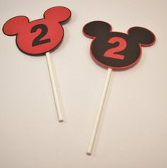 Customized Mickey Mouse Cupcake Toppers