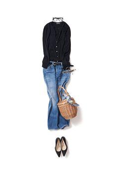 Kyoko Kikuchi's Closet #kk-closet 定番カーデをボーイズ+キュートで着る