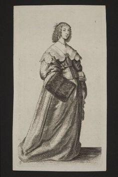 1640 drawing. Hollar, british court lady.