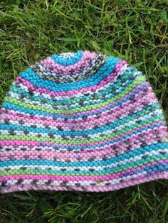 Hand knitted baby hat for newborn to 6 by LuckyLucysLovelies